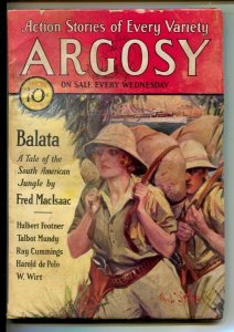 Argosy 12/27/1930-Jungle cover by Paul Stahr-Pulp tales-Talbot Mundy- Fred Ma...