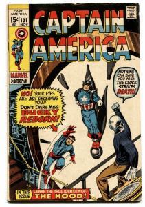 CAPTAIN AMERICA #131 1970-MARVEL COMICS Bucky Reborn Comic book