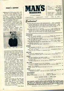 Man's Magazine January 1957- JAYNE MANSFIELD-EDDIE DOYLE-MOB VF
