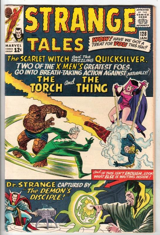 Strange Tales #128 (Jan-65) NM- High-Grade Human Torch, the Thing, Doctor Str...