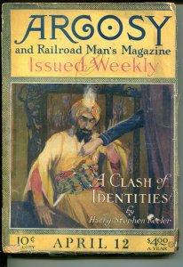 ARGOSY 04/12/1919-WEIRD MENACE-RAILROAD MAN'S MAGAZINE-PULP-good