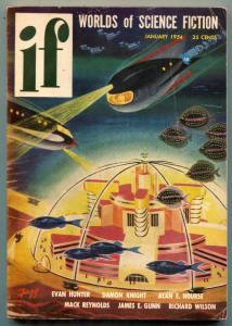If Pulp Digest January 1954- Evan Hunter- James Gunn VG