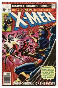 X-MEN #106-MARVEL BRONZE AGE-old x-men vf+