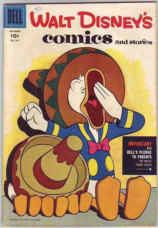 Comics and Stories, Walt Disney's #180 (Sep-55) VG/FN+ Mid-Grade Donald Duck,...