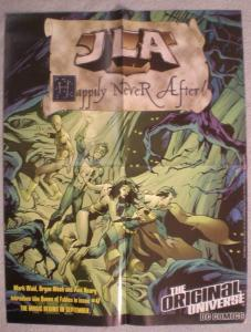 JLA HAPPILY NEVER AFTER Promo poster, 17 x 22, Unused, more in our s