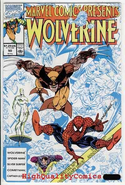 MARVEL COMICS PRESENTS #50, NM, Wolverine, Spider-man, 1988, more MCP in store