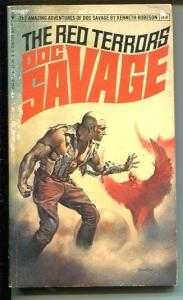 DOC SAVAGE-THE RED TERRORS-#83-ROBESON-G-BORIS VALLEJO-1ST EDITION G