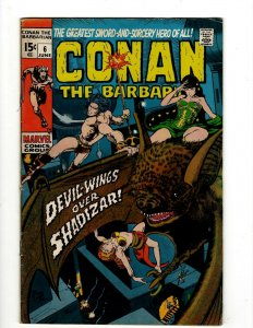 Conan The Barbarian # 6 FN/VF Marvel Comic Book Barry Smith Kull King Sword NP16