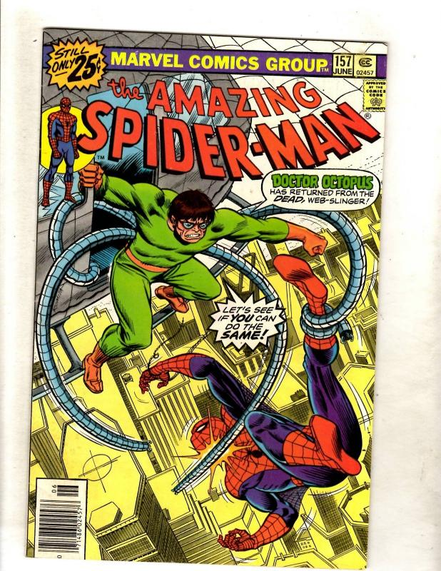 Amazing Spider-Man # 157 VF/NM Marvel Comic Book Goblin Aunt May Mary Jane JF11
