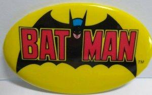 Batman Vintage 1982 Pinback Button Badge Bat Man & Robin DC Comics