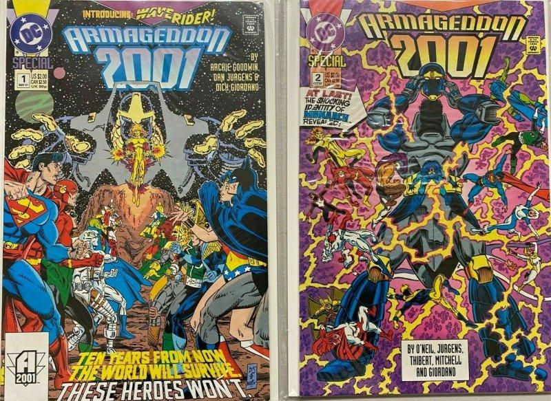 Armageddon 2001 set#1-2 8.5 VF+ (1991)
