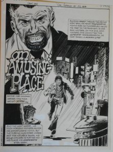 JOSE FERRER original art,MANY GHOSTS of DR GRAVES #56 pg 1, 10x14, 1975, Splash
