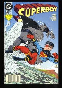 Superboy #9 VG+ 4.5 Newsstand Variant 1st King Shark!