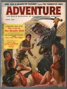 Adventure 4/1959-slave girl cover by John Stygo-mystery-cheesecake pix-G