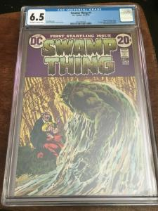 SWAMP THING #1 - CGC 6.5 FN+ WRIGHTSTON - BRONZE AGE BLUE CHIP KEY