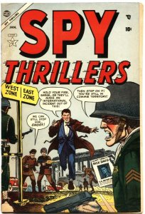 SPY THRILLERS #2-1954-RICK DAVIS OF THE SECRET SERVICE FIGHTS THE COMMIES