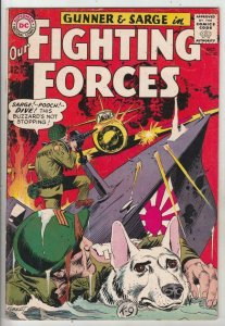 Our Fighting Forces # 87 strict VFCoverGunner, Sarge and Pooch!