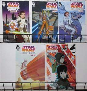 Star Wars Forces of Destiny (IDW 2018) Lot of 5Diff Girl Resistance Fighters