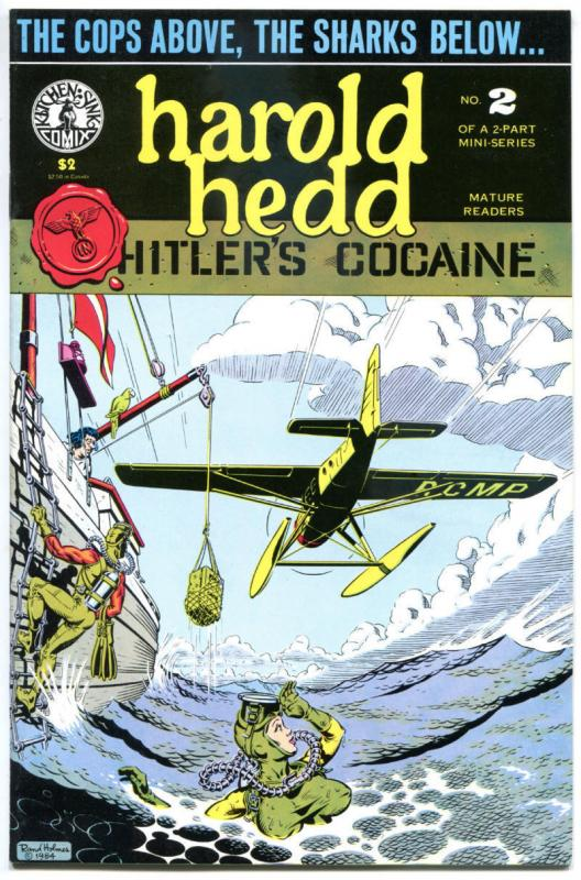 HAROLD HEDD Hitler's Cocaine #2, VF/NM, Rand Holmes, 1984, more in store