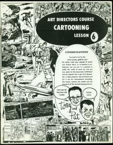 Art Directors Course Cartooning Lesson FSix 1970- How to Sell your comics FN/VF