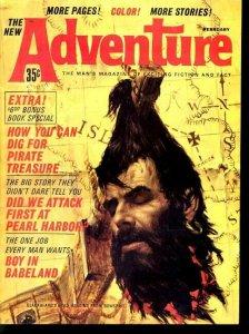 ADVENTURE 1964 FEB-DECAPITATION CVR/STORY FN