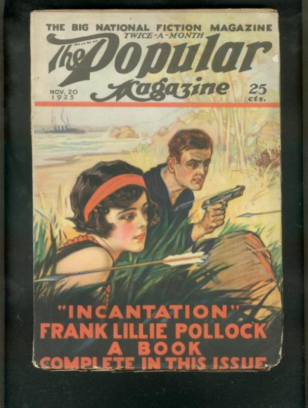 POPULAR MAGAZINE PULP-11/20/25-FLAPPER GIRL COVER FN