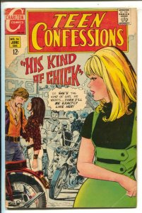 Teen Confessions #56 1969- Satans Brothers- Motorcycle Gang--12¢ cover price-...