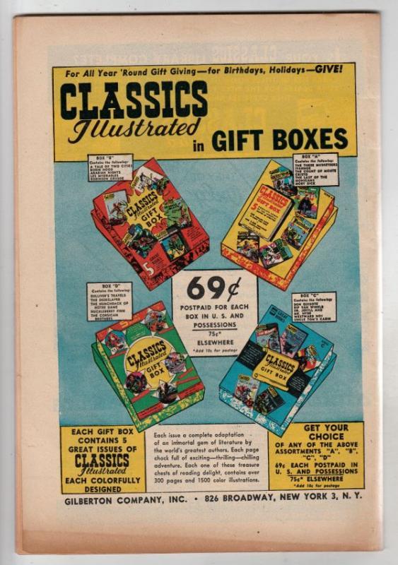 Classics Illustrated #44 (Aug-49) FN/VF+ High-Grade