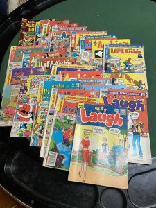 VINTAGE COMIC BOOK LOT OF 21 ARCHIE COMICS All Different 12 Cent An Up