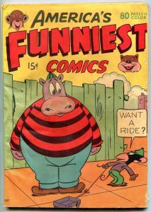 America's Funniest Comics 1944- Rare Funny Animals- Fat Boy VG+