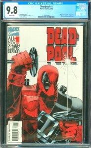 Deadpool #1 CGC Graded 9.8 Black Tom Cassidy, Juggernaut, Banshee and Siryn a...