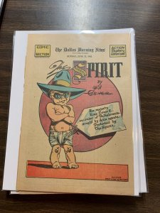 The Spirit Comic Book Section Newspaper Very Fine Or Better 1942 June 21