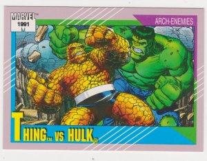1991 Marvel Universe #103 Thing vs Hulk