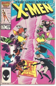 Uncanny X-Men #208 (8-86) - Wolverine, Morlocks, Hellfire Club, Phoenix, Storm
