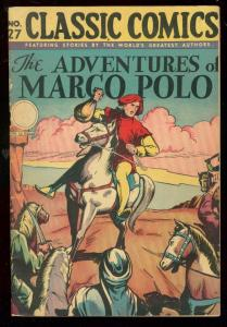 CLASSICS COMICS #27 HRN 30-MARCO POLO-LAST OF THE TITLE FN-