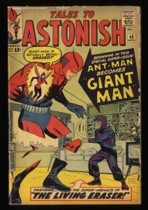 Tales To Astonish #49 GD+ 2.5 Ant Man becomes Giant Man! giant ant man hulk