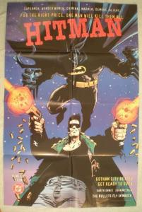 HITMAN BATMAN Promo poster, McCrea, 22 x 34, 1996, Unused, more in store
