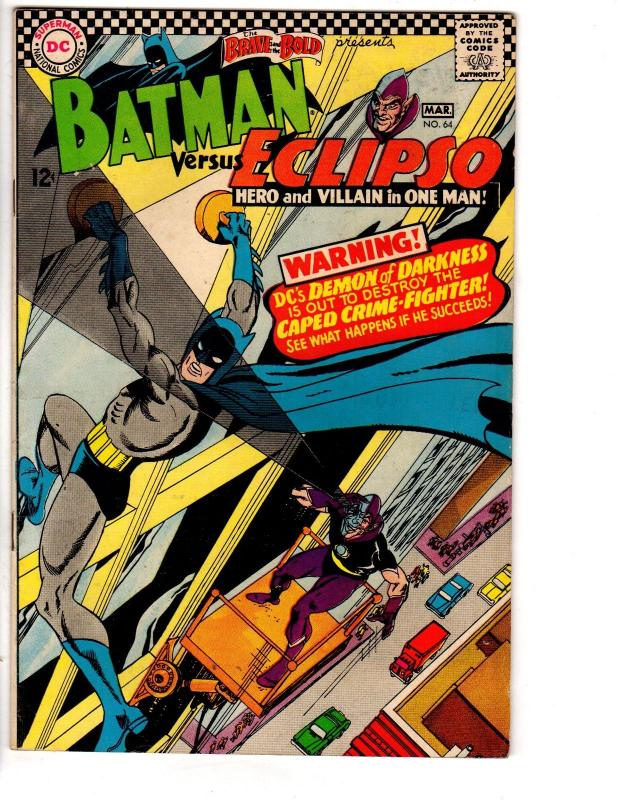 BRAVE & BOLD 64 VG-F March 1966 Batman Eclipso
