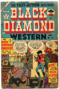 Black Diamond Western #45 1953- 1st Buck Roper- Golden Age G/VG