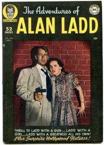 ADVENTURES OF ALAN LADD #2 PHOTO COVER-1949-RARE DC VF
