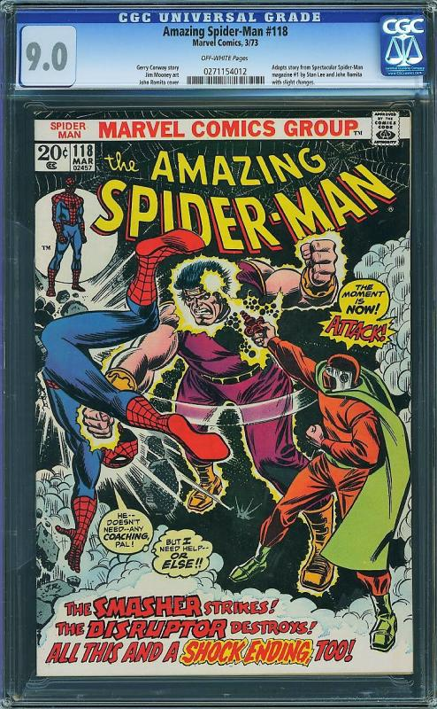 Amazing Spider-man 118 (Marvel, 1973) CGC 9.0