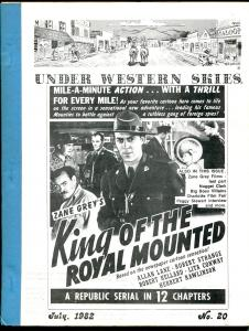 Under Western Skies #20 7/1982-King of The Royal Mounted-Zane Grey-FN