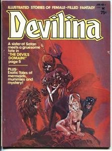 Devilina #1 1978 Atlas First appearance magazine-comic book mag