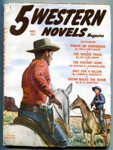 Five Western Novels Pulp December 1952- Pirate on Horseback
