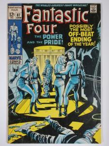 FANTASTIC FOUR 87 VG  June 1969 DANGLING STAPLE COMICS BOOK