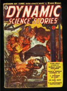 DYNAMIC SCIENCE STORIES #2 APRIL 1939-HITLER-DEVILS-EANDO BINDER-NORMAN SAU VG
