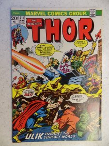 THE MIGHTY THOR # 211 MARVEL GODS JOURNEY ACTION ADVENTURE