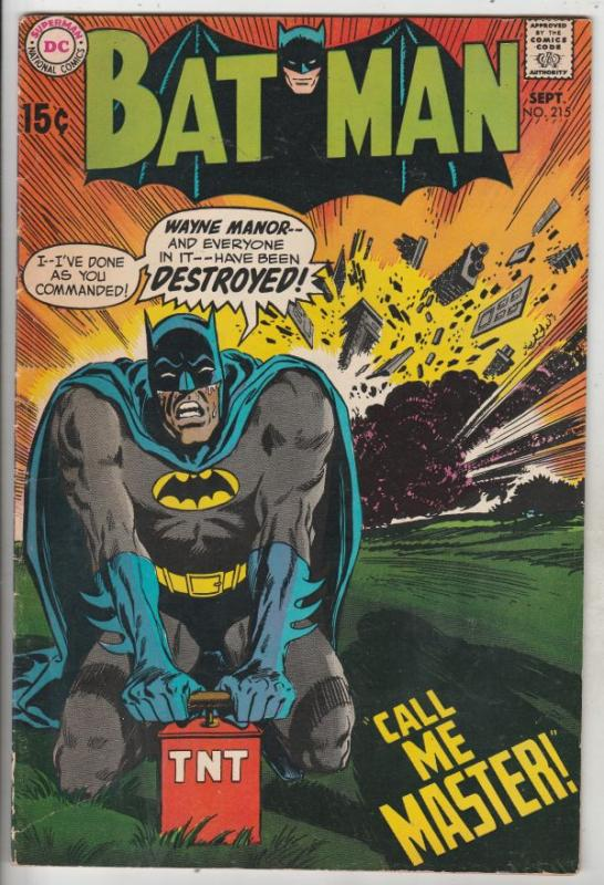 Batman #215 (Sep-69) FN+ Mid-High-Grade Batman