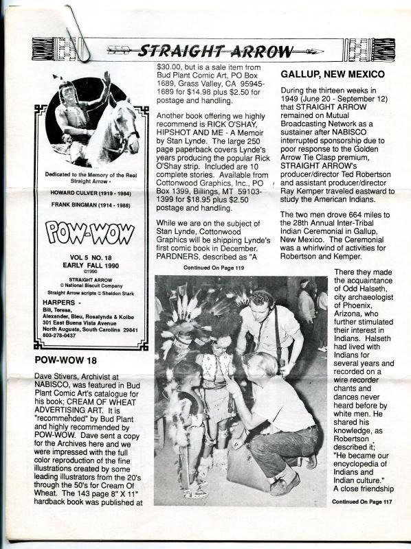 Straight Arrow Pow-Wow Vol. 5 #18 1990- Western fanzine newsletter