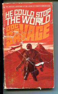 DOC SAVAGE-HE COULD STOP THE WORLD-#54-ROBESON-FR/G-JAMES BAMA COVER-1ST ED FR/G